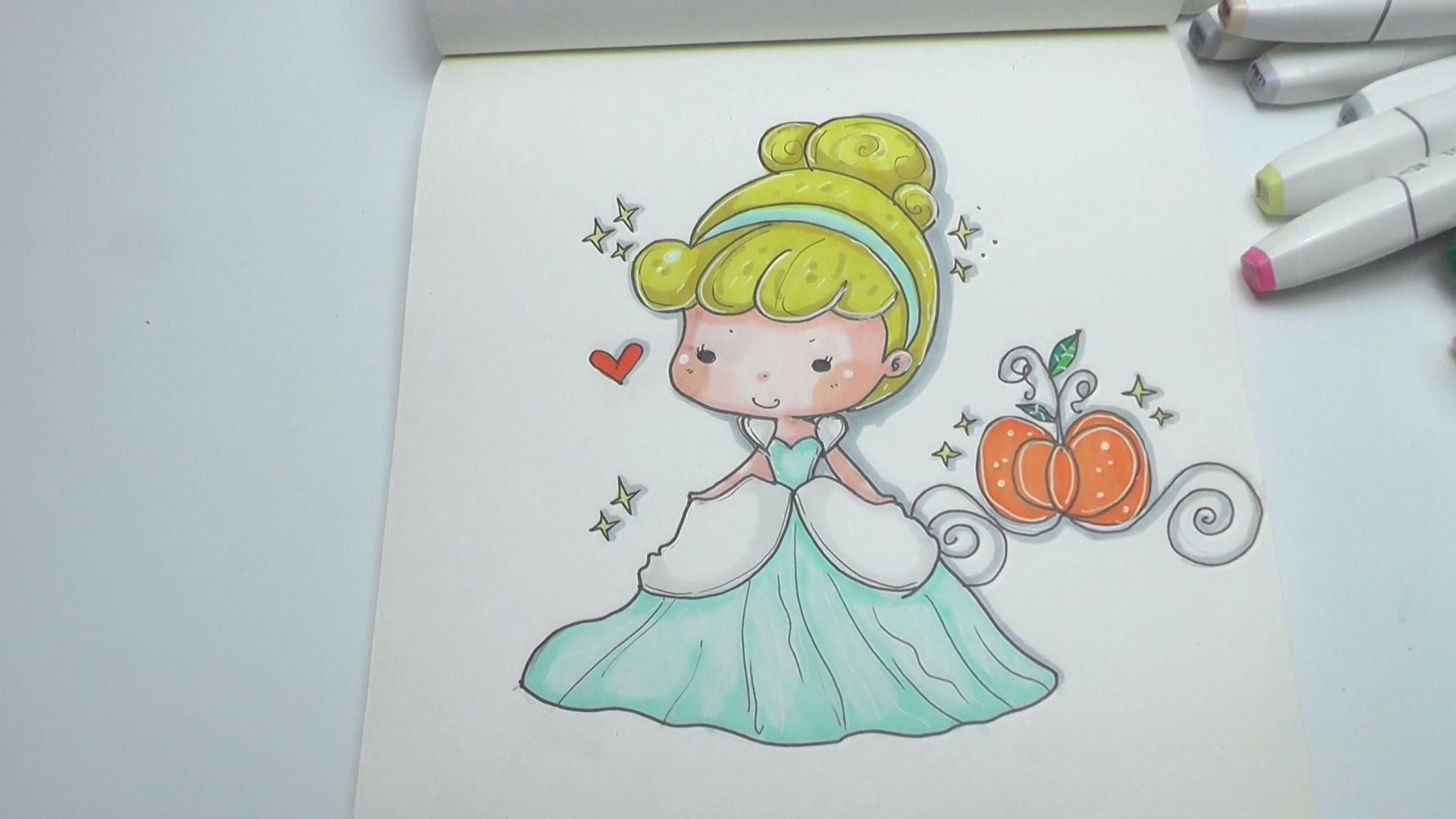 How To Draw Cinderella Easy Step By Step Diy Cinderella Drawing Family Drawing Drawings