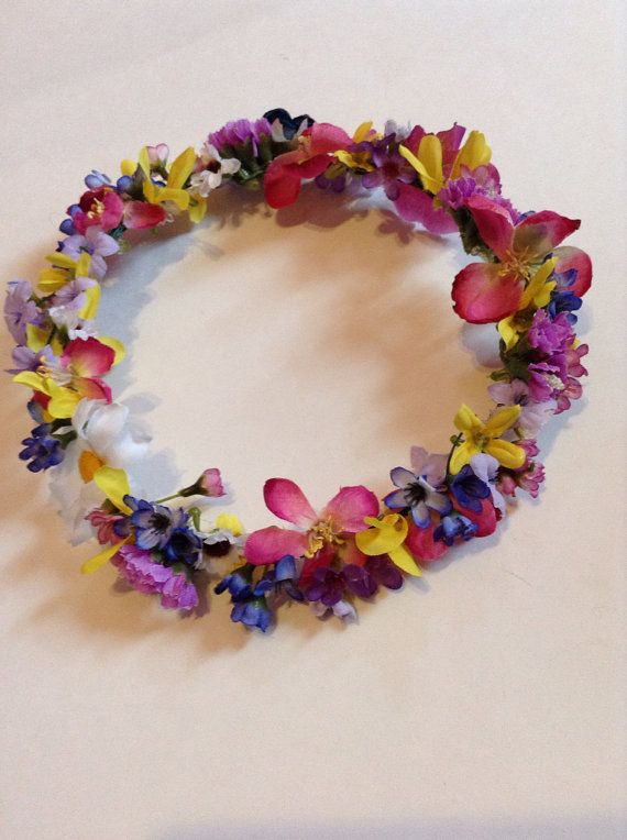 full flower crown on Etsy, $8.00