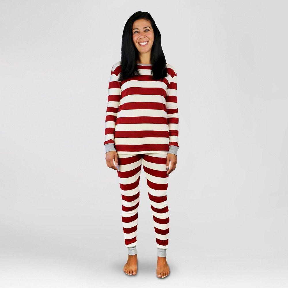 a2b1319028 Burt s Bees Women s Organic Cotton Striped Pajamas Red XS