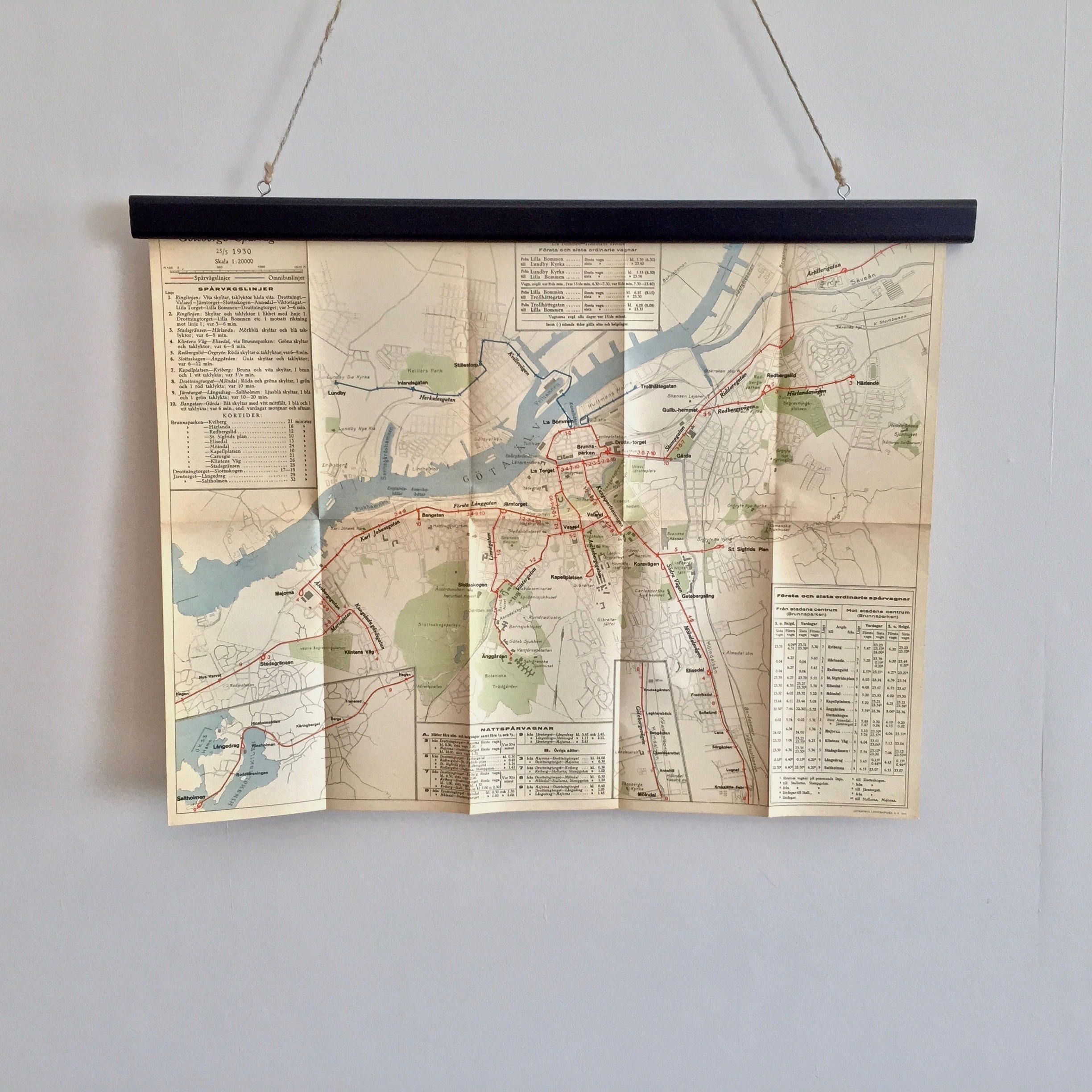 Free Worldwide Shipping Antique Tram Map Of Gothenburg Sweden From 1930 Perfect For Your Next Holiday In Goteborg By Aga Etsy Etsy Shop Vintage World Maps