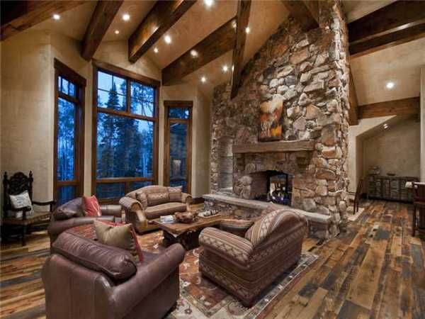 Stunning And Luxury Mountain Home Mountain Home Interiors Log