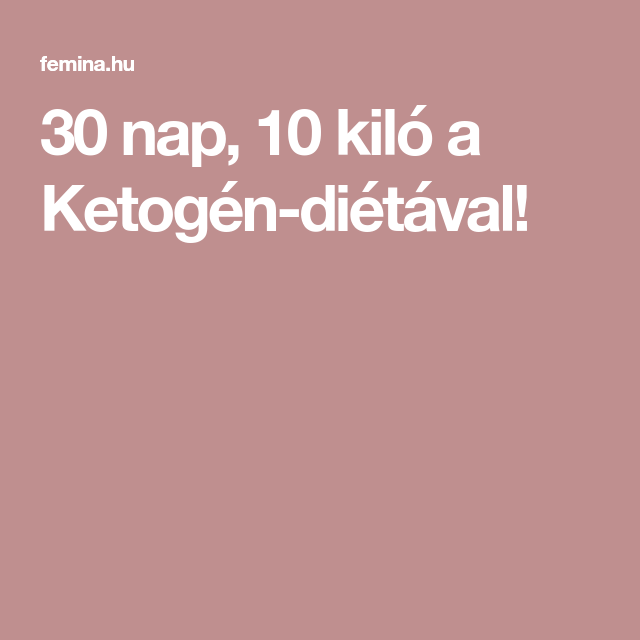 gyors étrend 10 nap