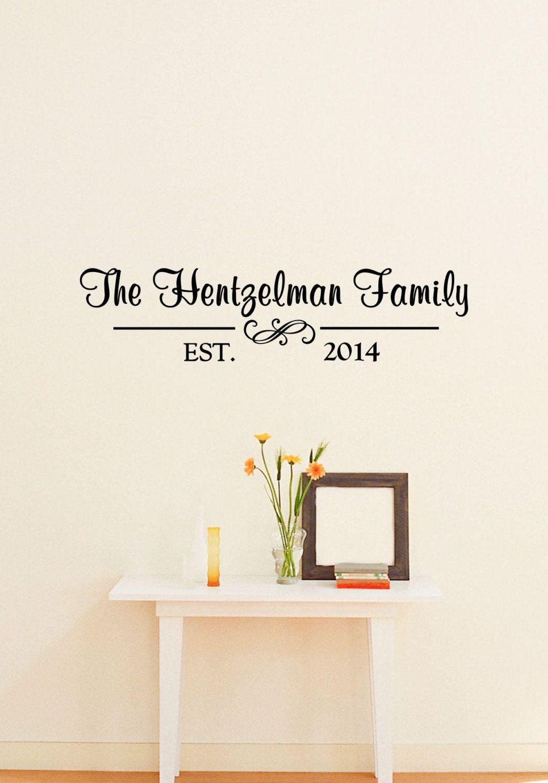 Custom Family Name Vinyl Lettering Family Vinyl Wall Art Decal - Custom vinyl wall art decals