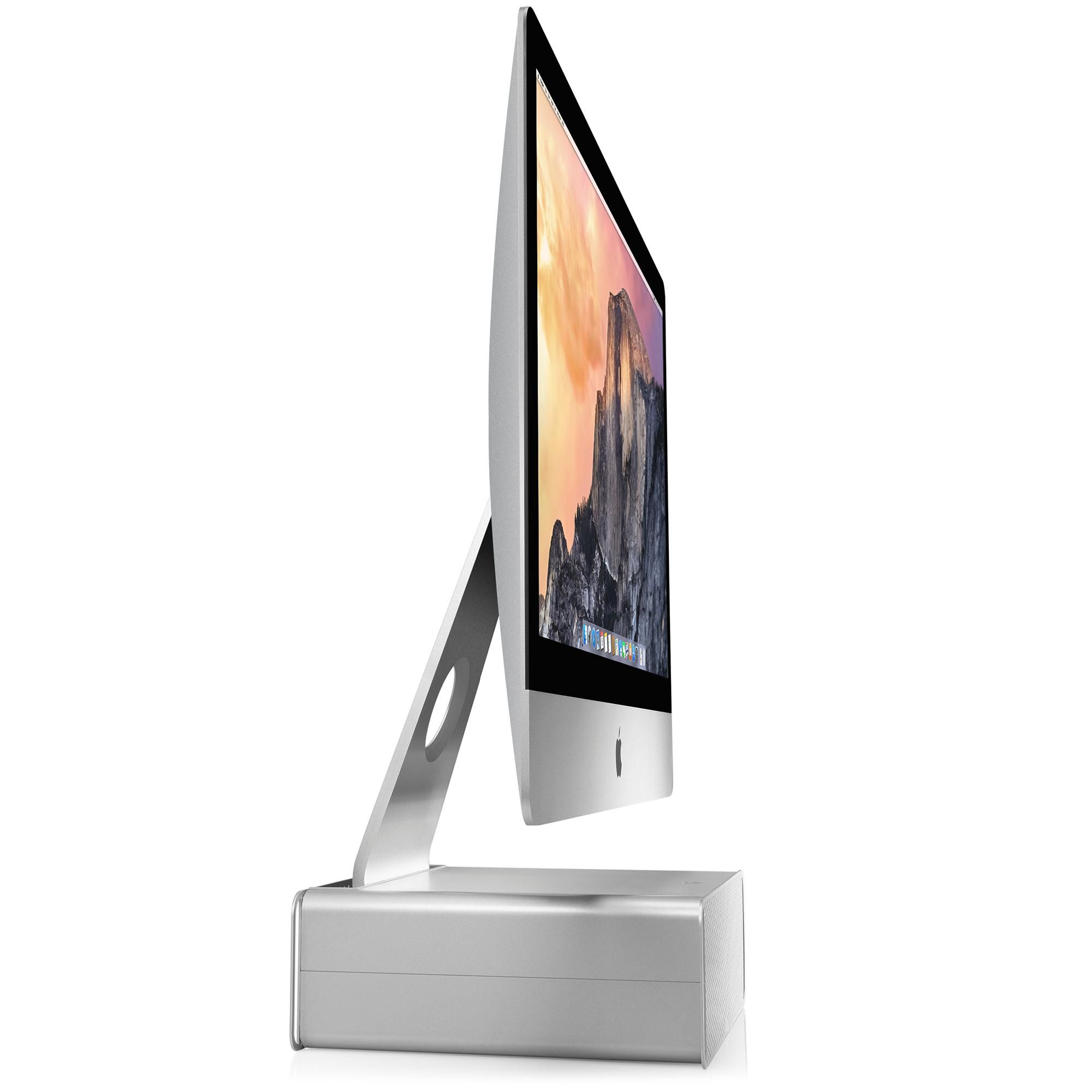 Amazon Com Twelve South Hirise For Imac Height Adjustable Stand With Storage For Imac And Apple Displays Com Adjustable Height Stand Imac Height Adjustable