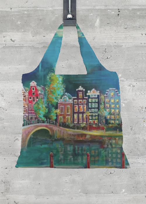 Tote Bag - Heartblues-Delft by VIDA VIDA vSErDdy