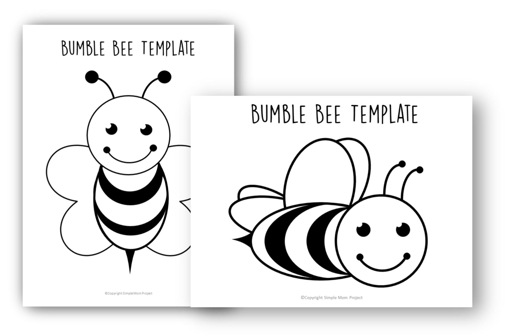 Free Printable Bee Templates in 2020 Bee template, Bee