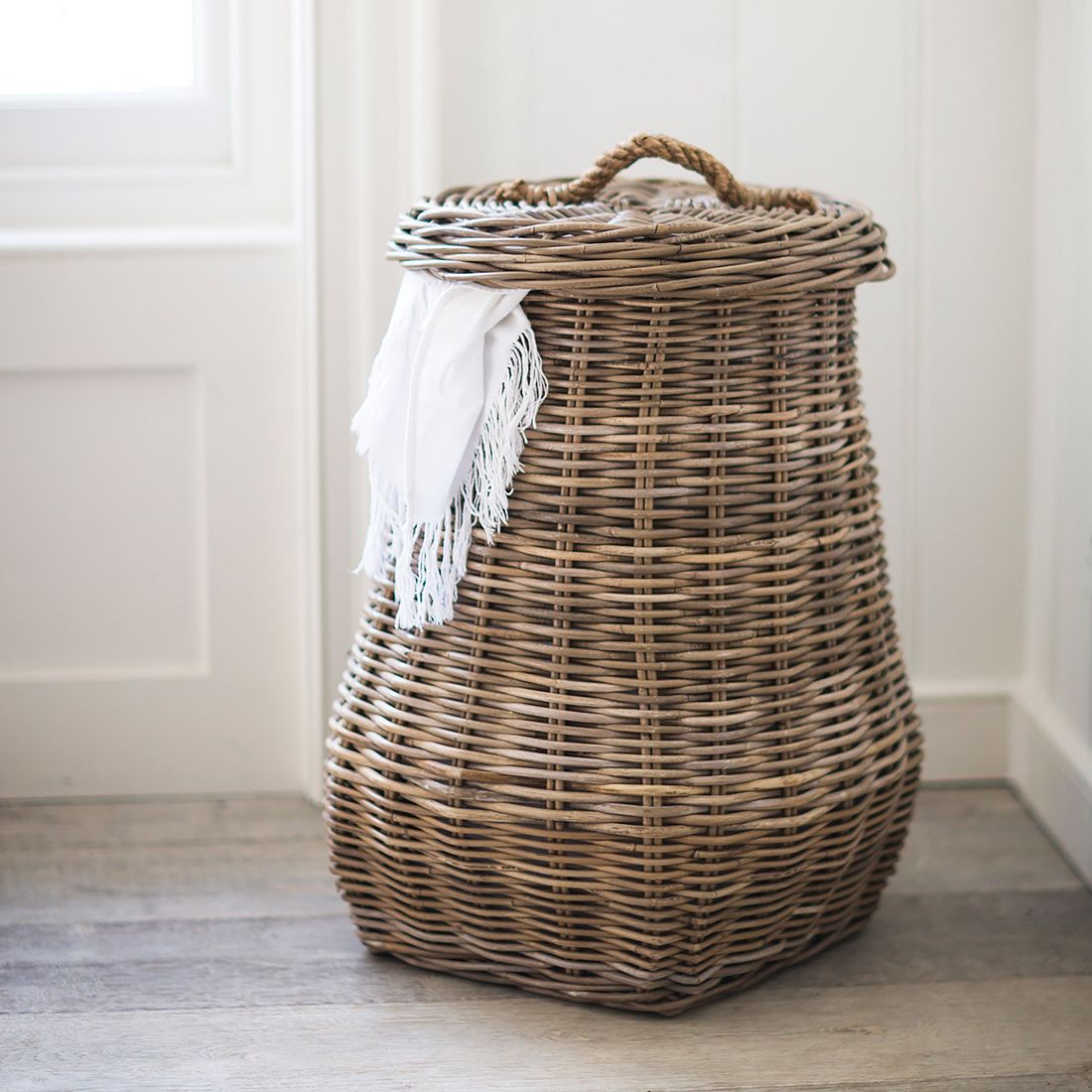 Connected Goods Flat Lid Woven Storage Laundry Basket 120