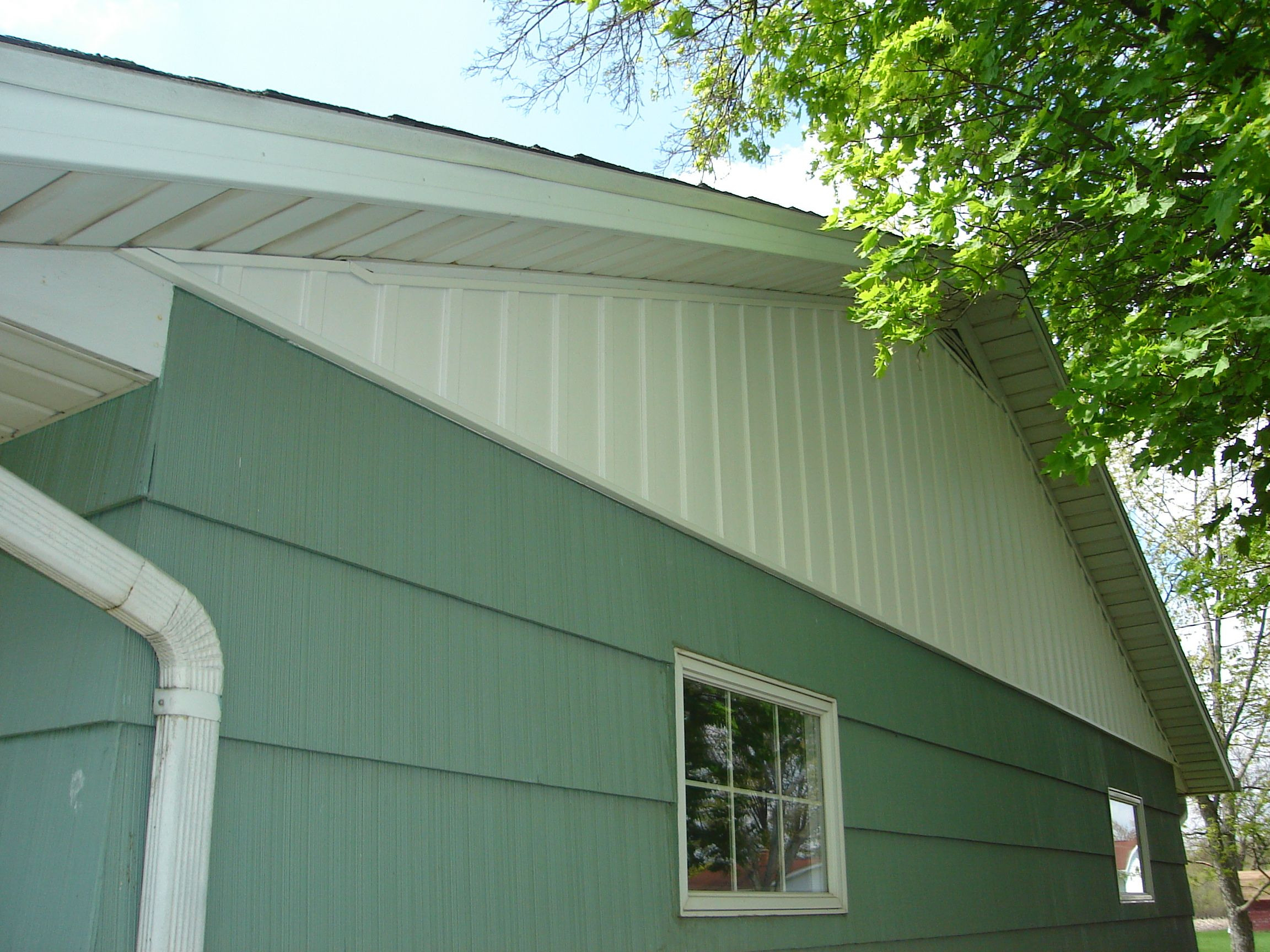 Vertical Contrasting Siding On Gable Remodel Siding