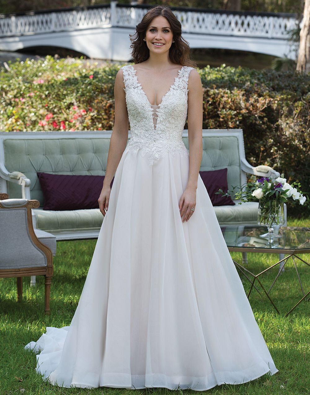 Sincerity wedding dress style 3941 this v neck ball gown features sincerity wedding dress style 3941 this v neck ball gown features beaded appliques a basque waistline low back and english net skirt ombrellifo Choice Image