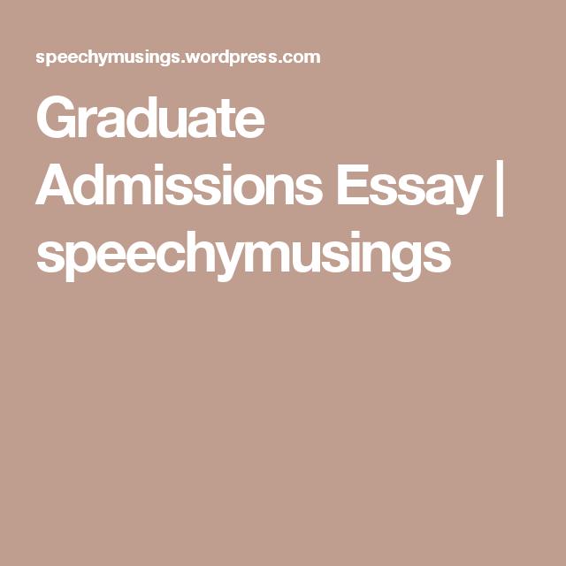 Graduate admission essay help toronto