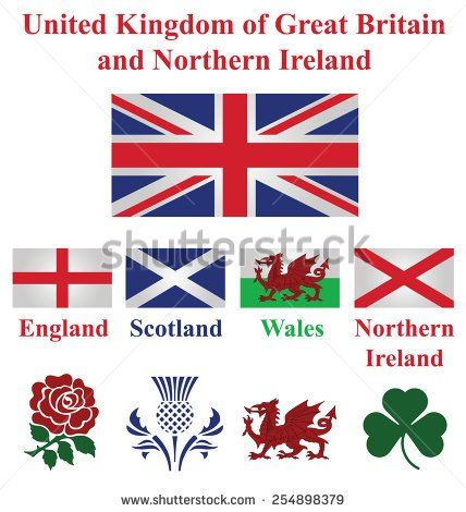 United Kingdom Collection Of Flags And National Emblems Of England Scotland Wales Northern Ireland Isolated England Tattoo Emblem Of England Symbol Of England