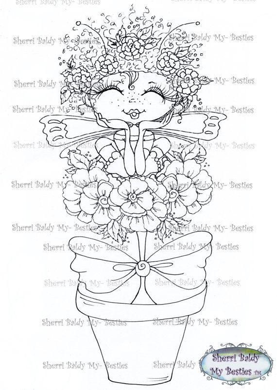 INSTANT DOWNLOAD Digital Digi Stamps Big Eye Big Head Dolls Digi My ...