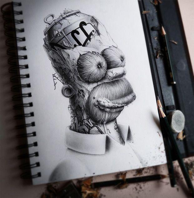 Los detallados dibujos a lpiz de Pez  Dibujos de Caricatura