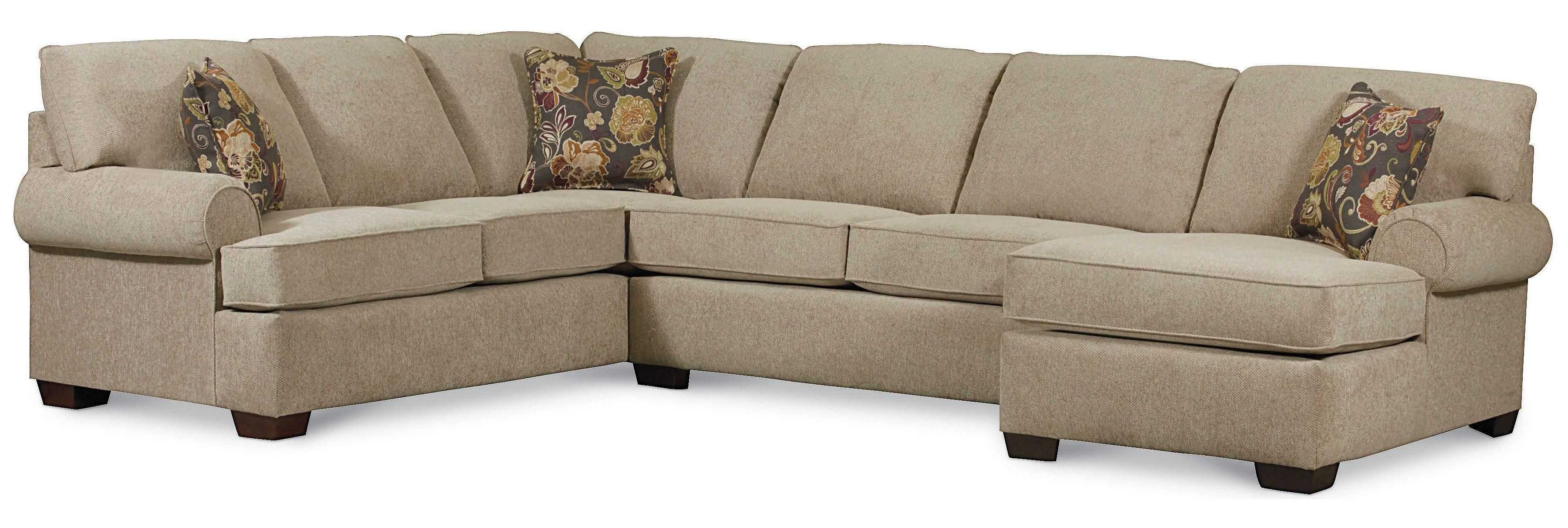 Vivian Transitional 3 Piece Sectional Sofa By Lane