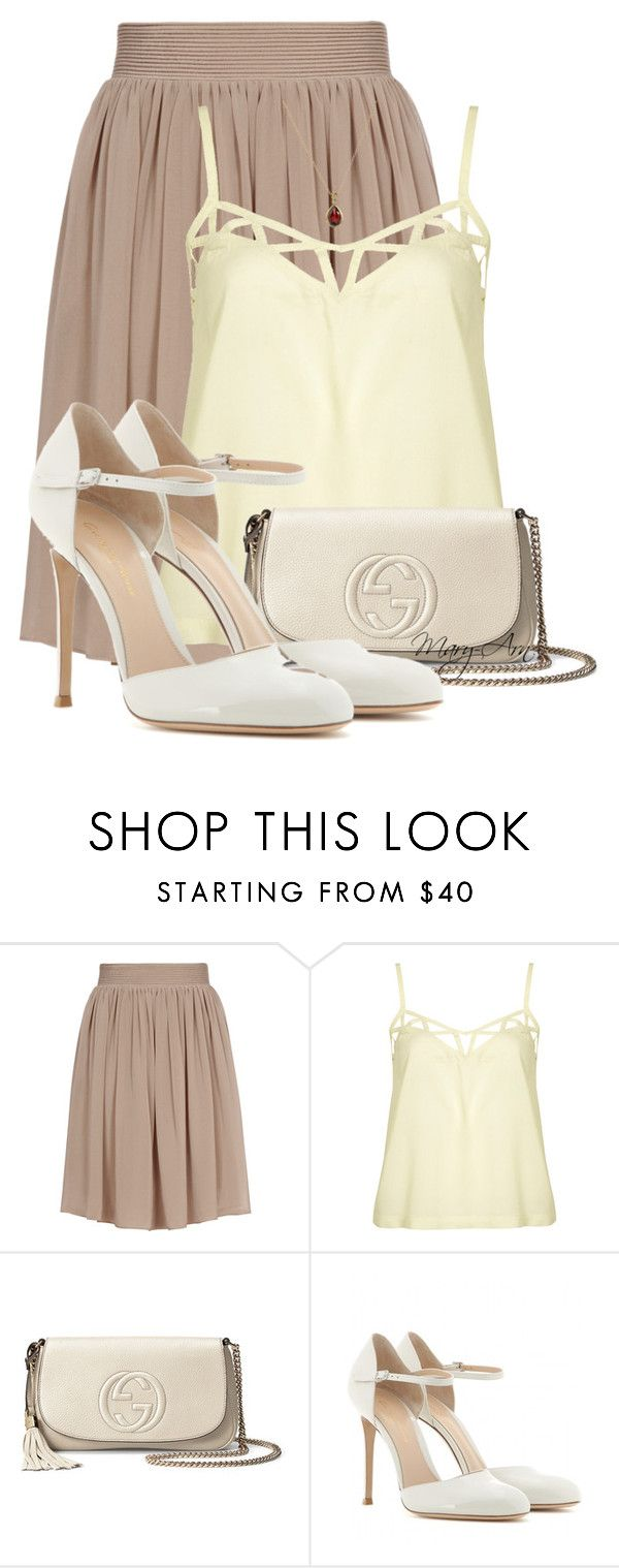 """""""Без названия #162"""" by maryarn ❤ liked on Polyvore featuring Reiss, Topshop, Gucci, Gianvito Rossi and EWA"""
