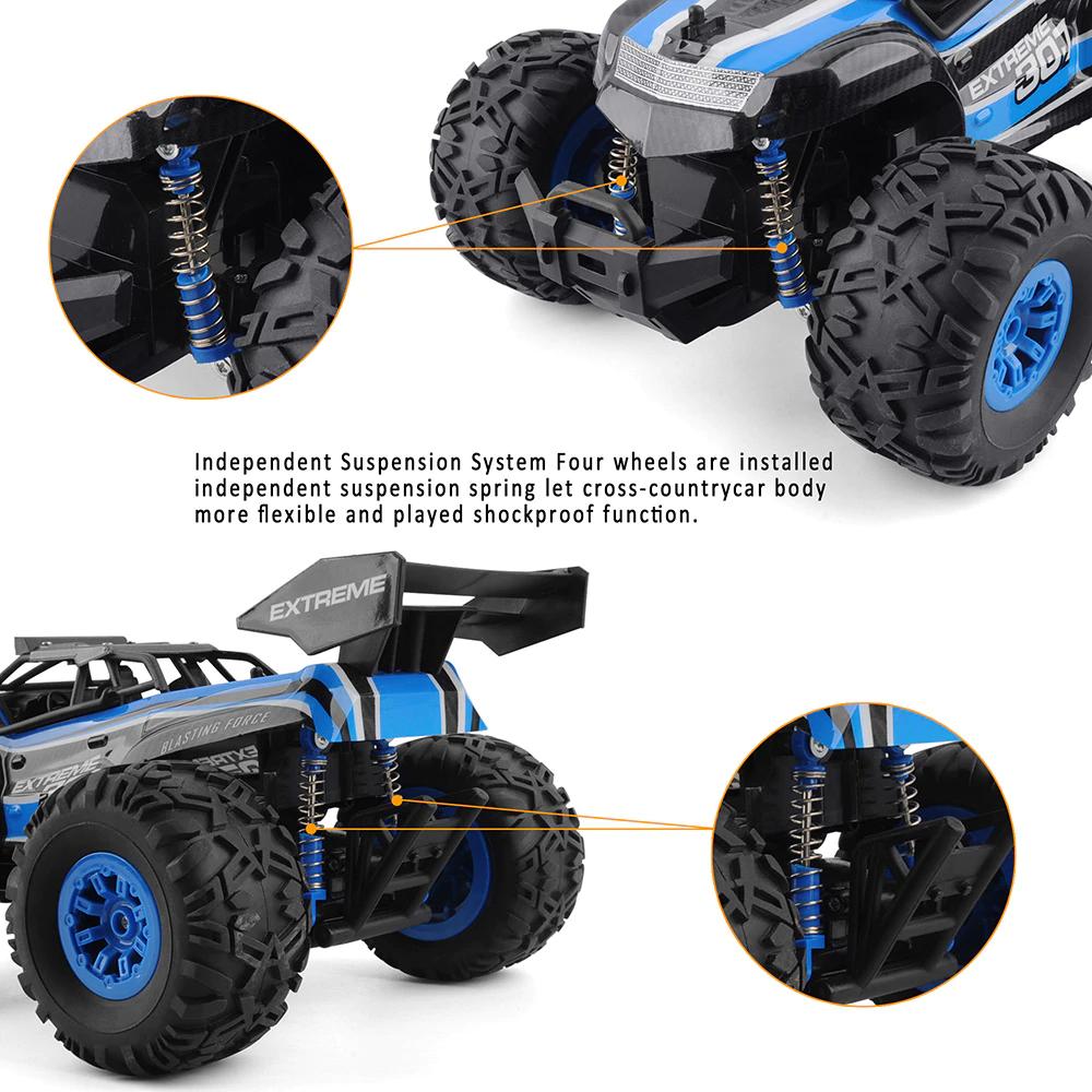 Rc Car 2 4g 1 18 Monster Truck Car Remote Control Toys Controller Model Off Road Vehicle Truck 15km H R Monster Truck Cars Monster Trucks Radio Controlled Cars
