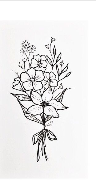 C66da6b8aa Great Quality How To Know Simple Flower Outline Tattoos