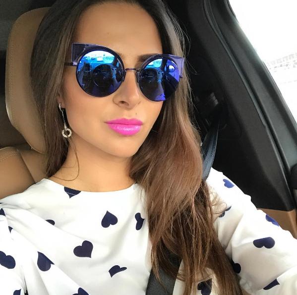 Linda da  olga crisp com a nova cor do  Fendi  Eyeshine Estamos apaixonados  pelo tom roxo azulado do modelo!!  envyotica  fendieyeshine  oculos   sunnies   ... dffb42e4f1