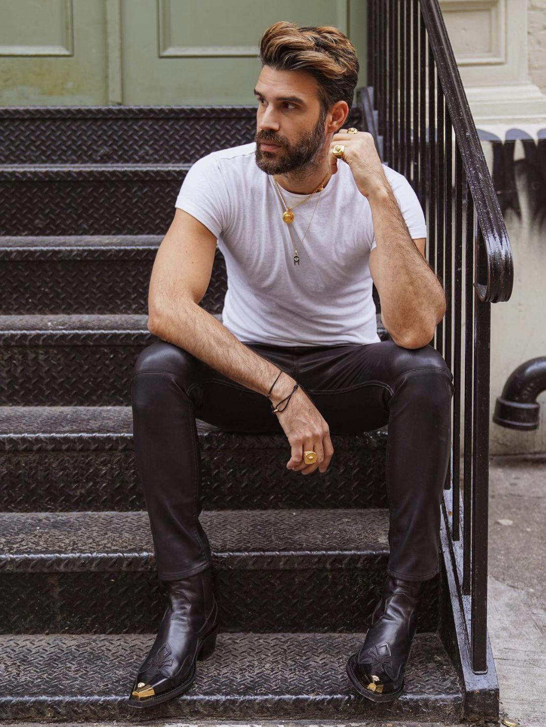 Pin By Gael Araujo On Men In Leather Boots Outfit Men Mens Cowboy Boots Black Boots Men [ 1483 x 1115 Pixel ]