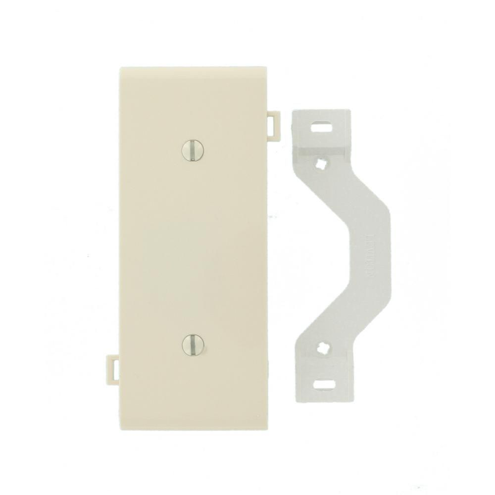 Leviton Almond 1 Gang Blank Plate Wall Plate 1 Pack 007 Psc14