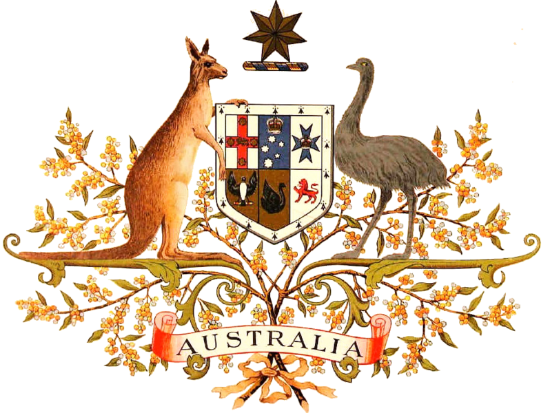 The Original Drawing Of The Coat Of Arms Of Australia The Official