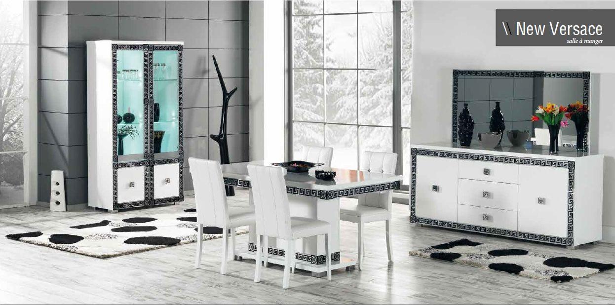 Salle à manger complète New Versace comprenant: Buffet + Vitrine 2 ...