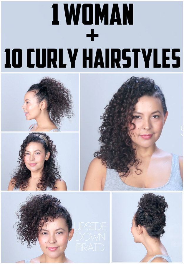 Follow Buzzfeed Top Knot On Facebook And Instagram For More Hair Tips And Tricks Womens Hairstyles Curly Hair Styles Hair Styles