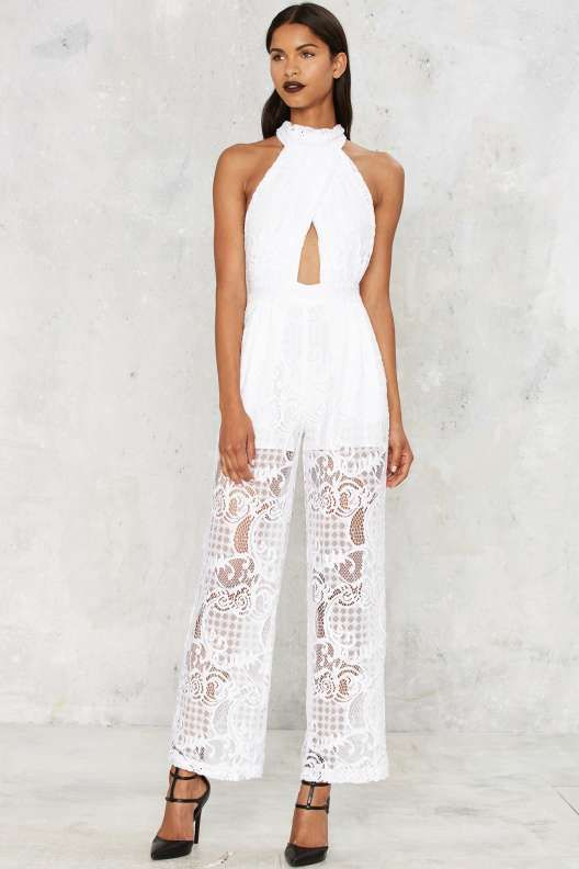 78016cafead9 Kendall + Kylie Lace Pleated Jumpsuit - Rompers + Jumpsuits ...