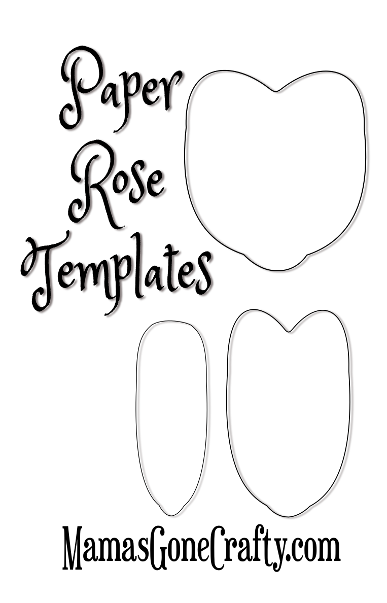 Rose Petal Printable Templates Paper Flowers Diy Free Paper