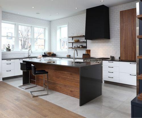 Pour la hotte l 39 ancienne cuisine en 2019 cuisine contemporaine cuisine contemporaine - Hotte de cuisine montreal ...