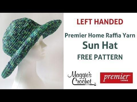 Raffia Sun Hat Free Crochet Pattern - Left Handed - YouTube  5440dea0e2fa