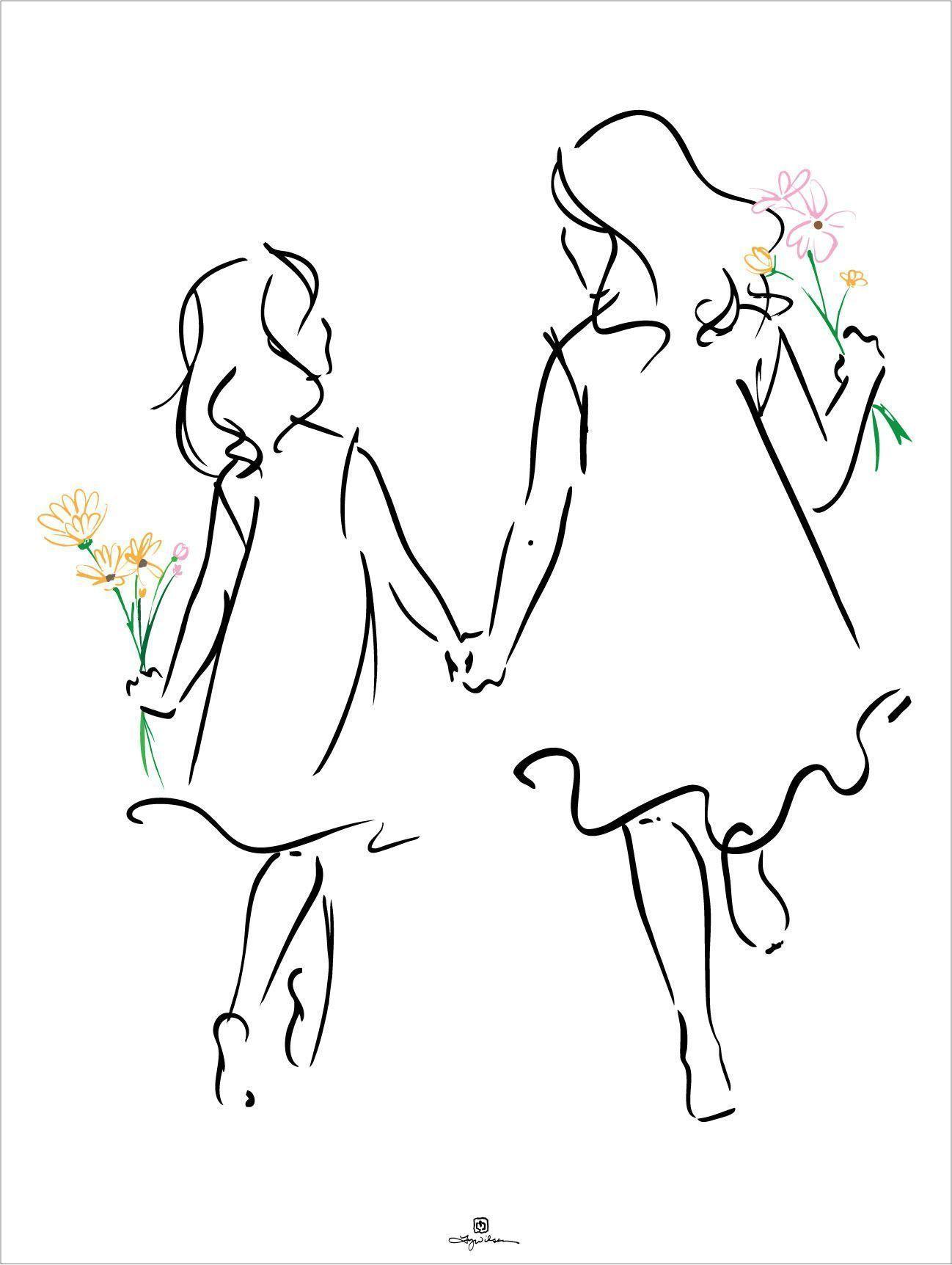 Sisters Drawingtips Drawings