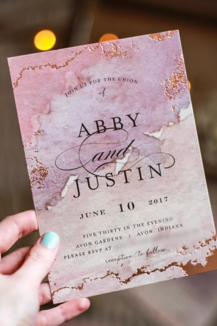 zazzle wedding invitations promo code%0A Gilded Shore  Foil Pressed Wedding Invitation Suite by Grace Kreinbrink   Blushing Pink with Rose