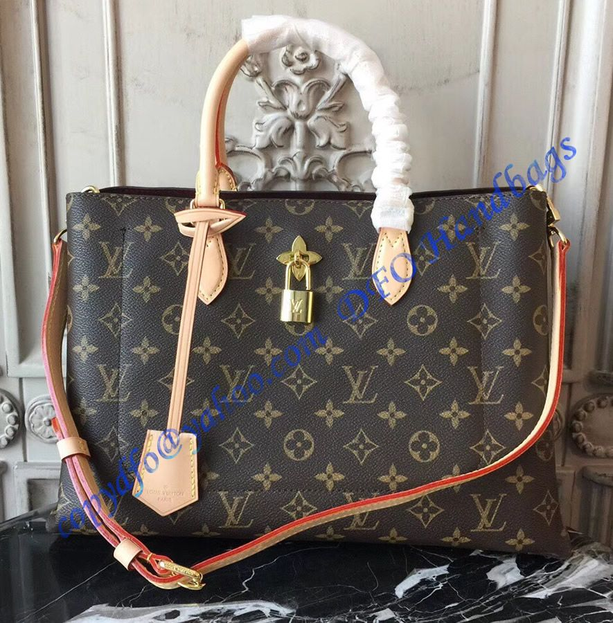 Louis Vuitton Monogram Canvas Flower Tote Beige M43551 Louis