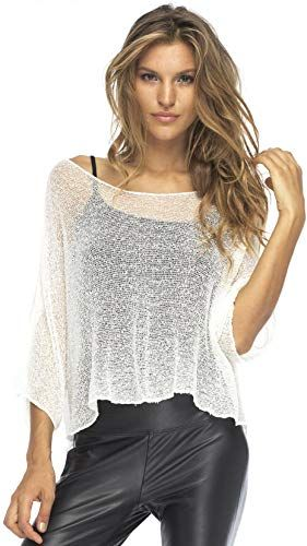 New Back From Bali Womens Sheer Blouse Top Lightweight Knit Shrug Sweater Poncho online - Stargreatshopping #shrugsweater