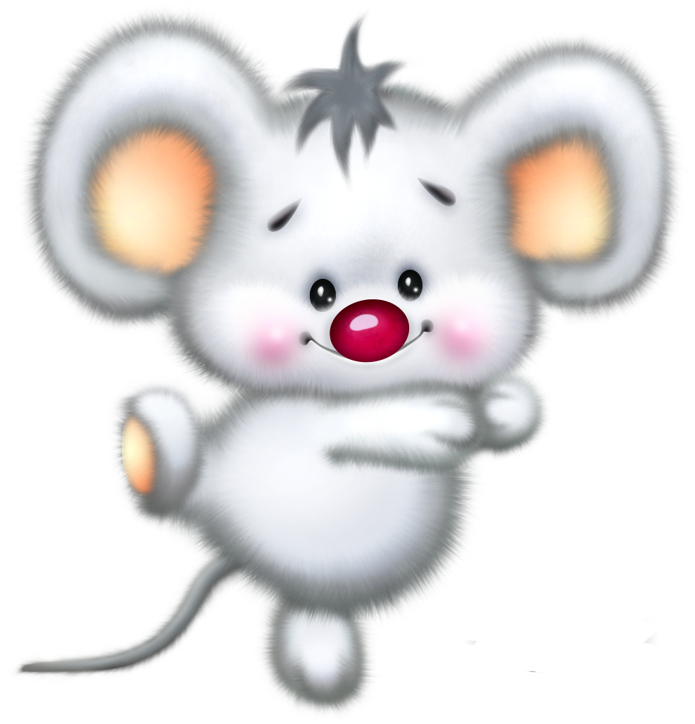 Cute Illustrations - Cute White Mouse Cartoon Clipart | Cute ...
