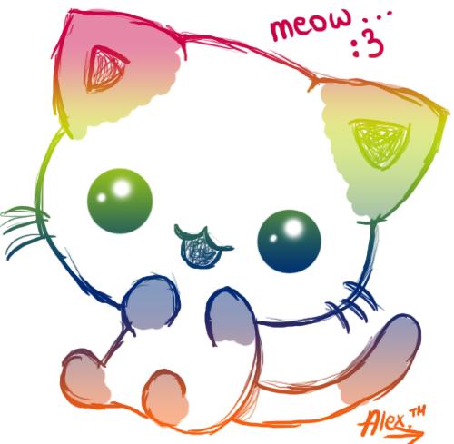 Chat kawaii kawaii manga - Dessin de chat kawaii ...