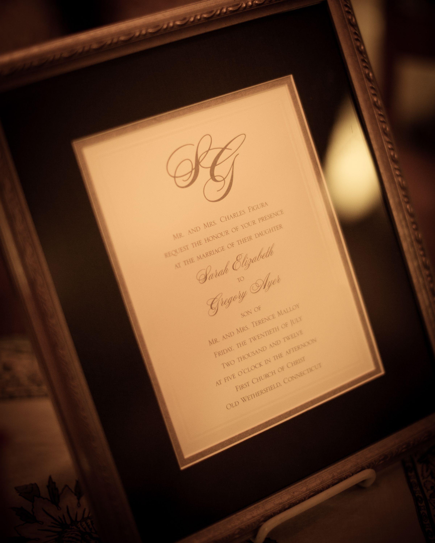 Framed Wedding Invitation Weddinginvitation