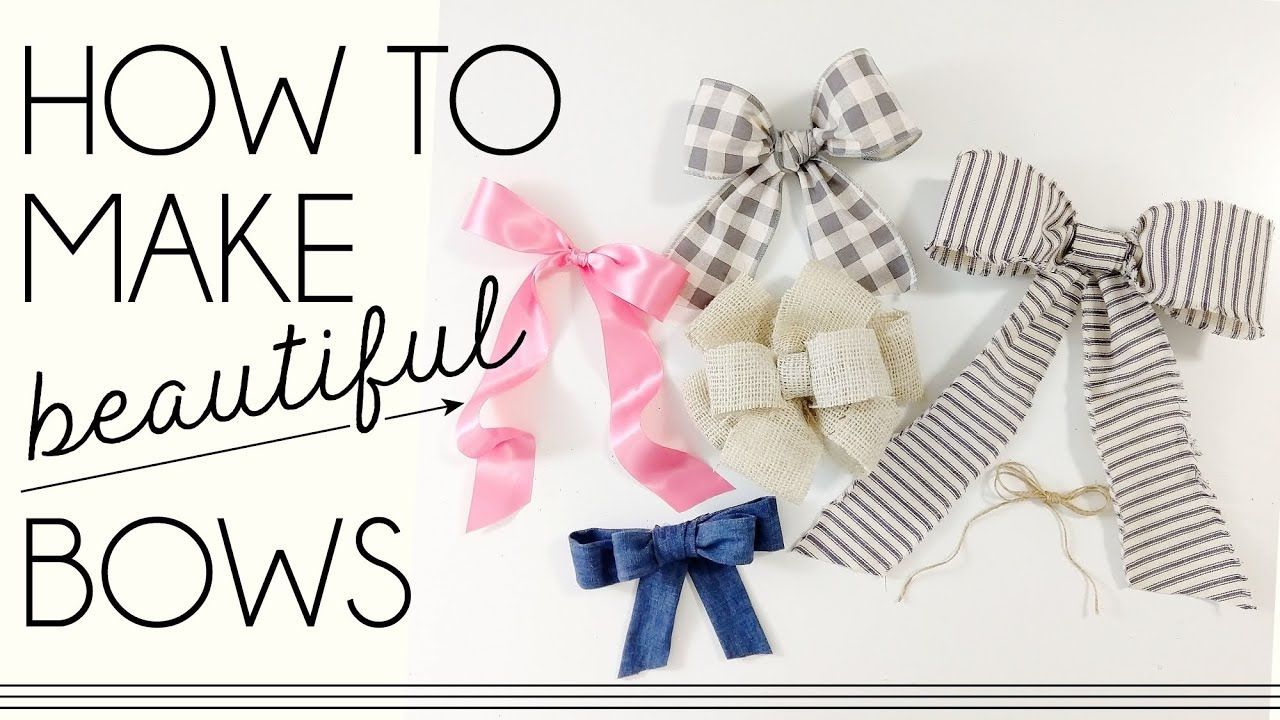 How To Make A Bow | Fabric Bow Tutorial | DIY Bows