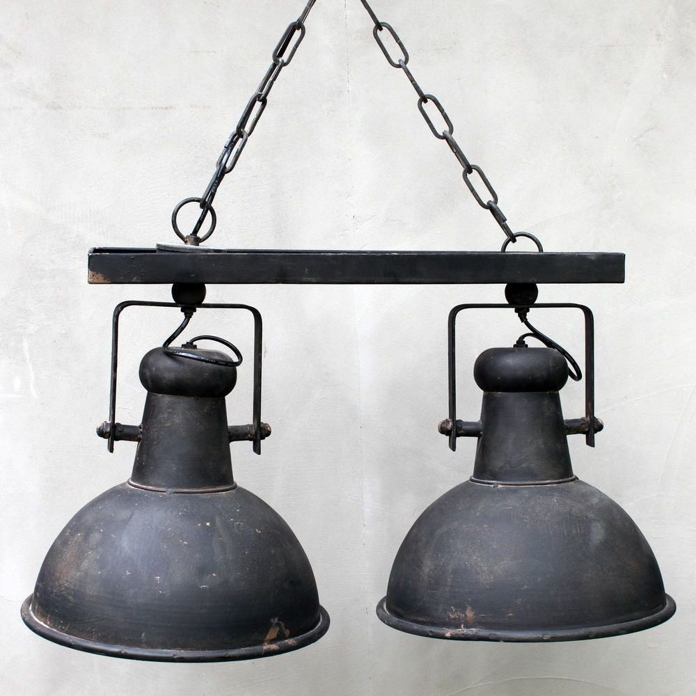Doppelte Vintage Industrielampe Ideal Für Esstische Farbe