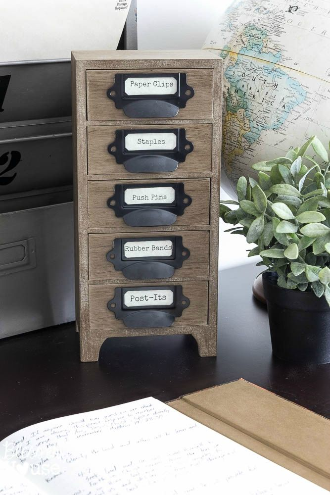 Industrial Office Supply Organizer Rustic Office Decor Office