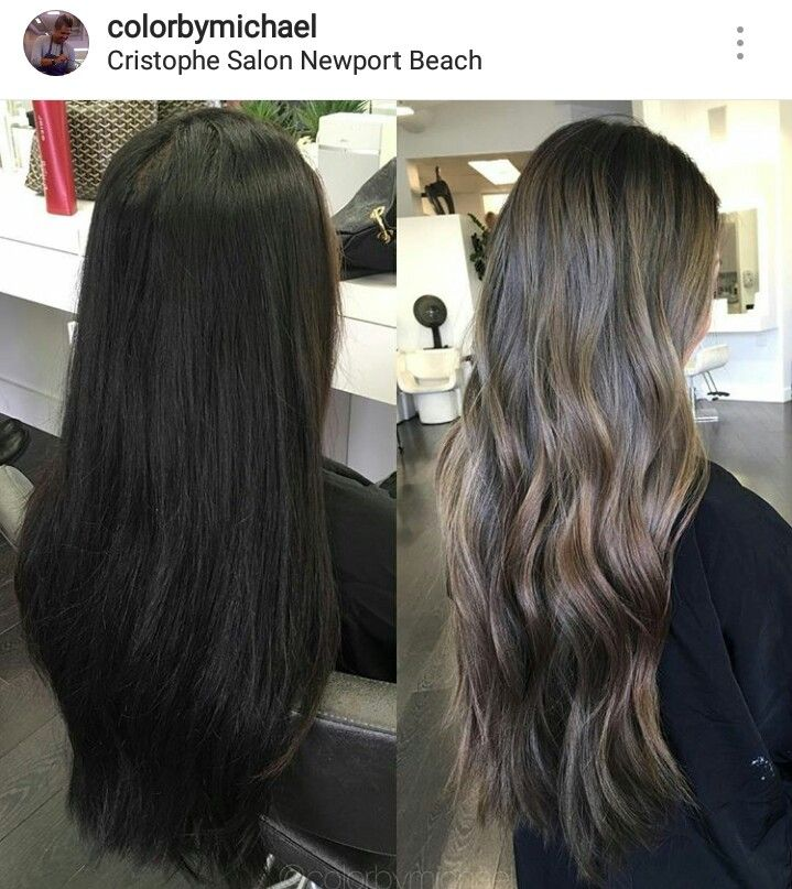 Haistyle From Dark Brown To Ash Lighter Brown Midtones