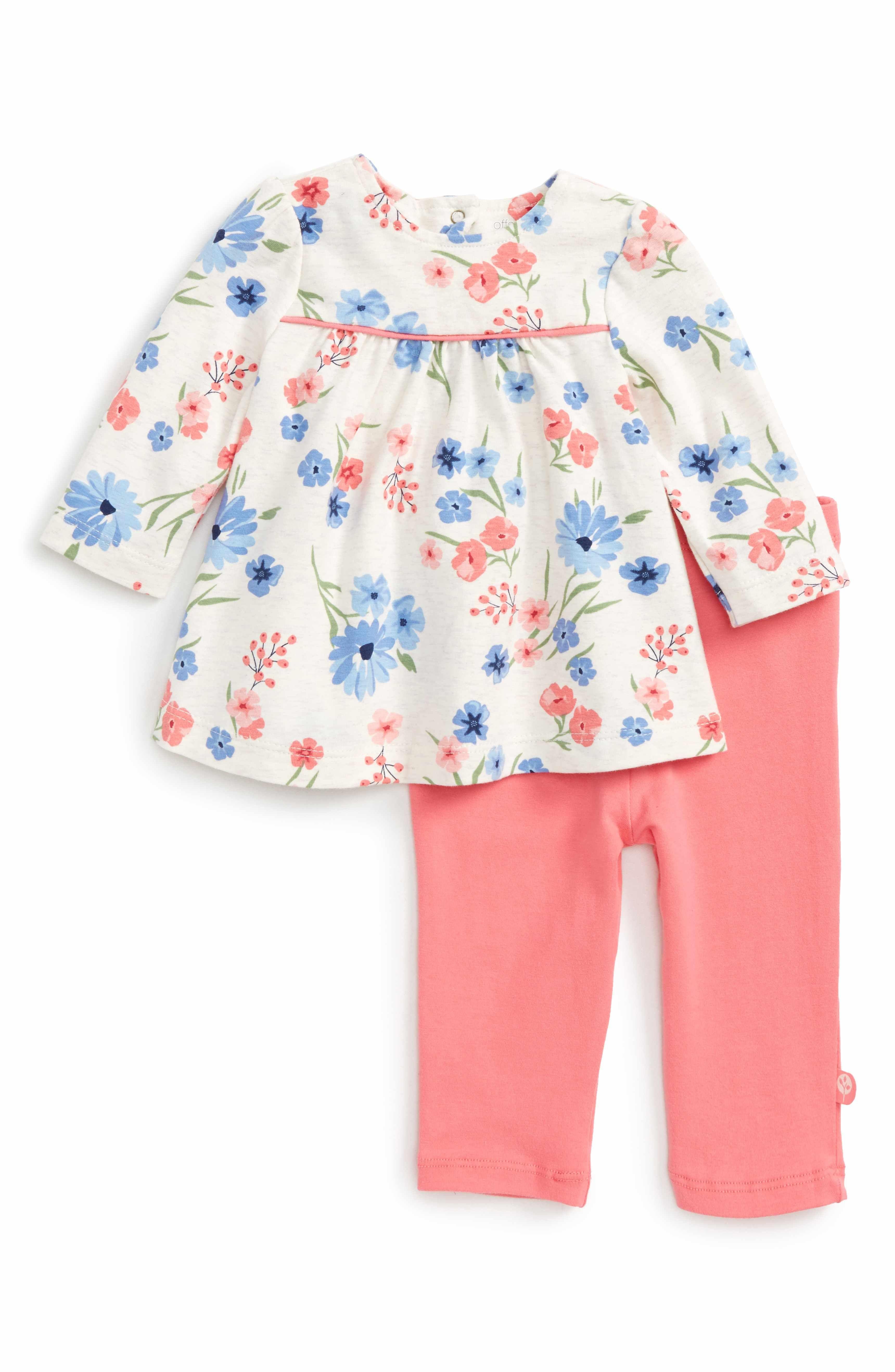 Main Image - Offspring Flower Tunic   Leggings Set (Baby Girls ... 4b61412faec