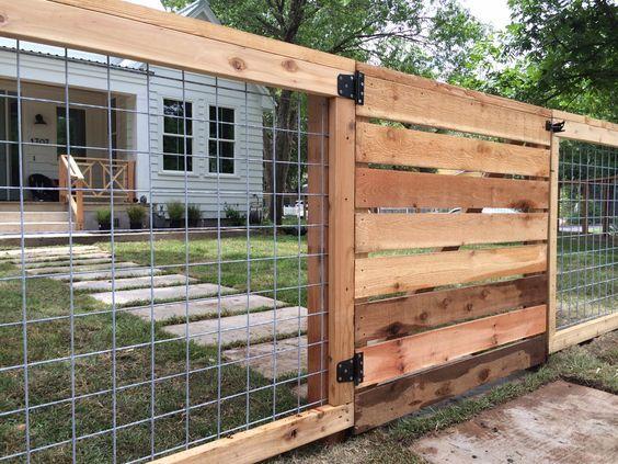 Bull Panel Horizontal Wood Fence Yard Work Pinterest