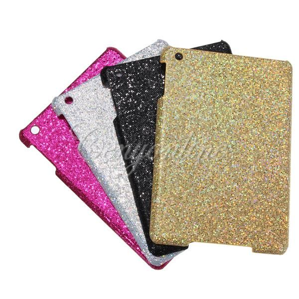 Matte Bling Glitter Sparkle Hard Case Back Cover Protector for New iPad Mini 1/2