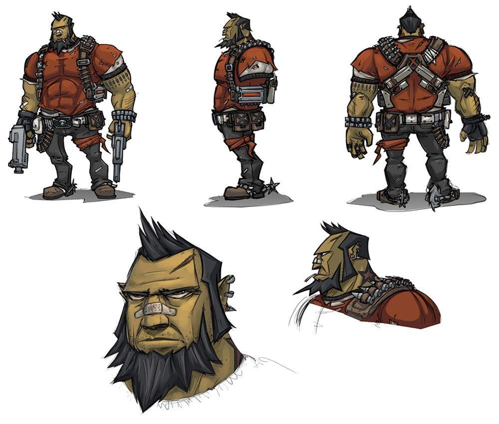 Exploring Character Design Pdf : Salvador gunzerker characters art borderlands