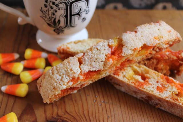 food nasty trick or treat biscotti with candy corn