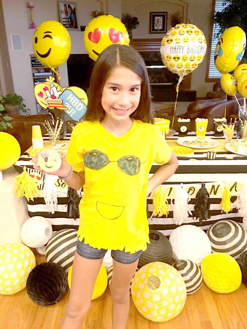 Emoji Themed Birthday Party DIY Shirt Via Pretty My