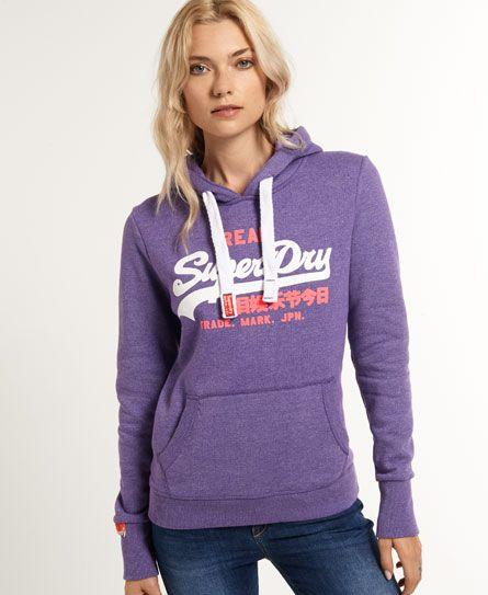 Superdry Vintage Logo Hoodie For Womens Hoodies Womens Hoodies Superdry Clothes