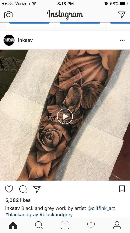 Forearm forearm tattoos rose tattoos for men